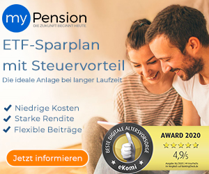 Altersvorsorge myPension mit ETF Sparplan